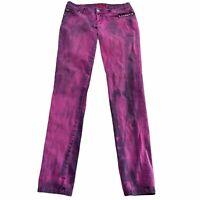 Tripp NYC Studded Purple Tie Dye Skinny Jeans Gothic Goth Punk Juniors 9 Read!