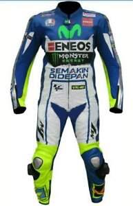 Mens Motorcycle Motorbike Genuine Leather Bikers CE Protectors Racing Suits