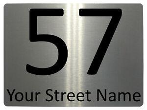 036 Custom Personalised Address Metal Aluminium Plaque Sign For House Door Gate
