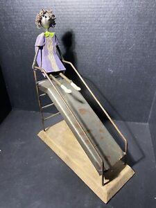 Manuel Felguerez Girl on Slide Sculpture original 1960's MCM Rare