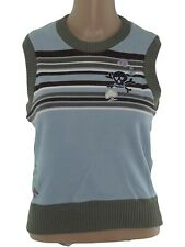 replay maglioncino smanicato maglione donna azzurro taglia s small cotone gilet