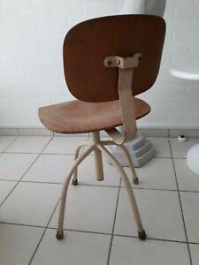 Stuhl Frankfurter Küche Architektenstuhl Bauhaus chair Drehstuhl höhenverstellba