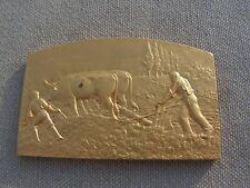 medaille agricole par coudray en bronze offerte par un depute en 1932