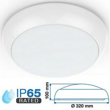 LED Outdoor 15w Round IP65 Wall Ceiling Bulkhead Exterior Light Flush Fitting