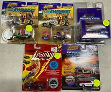 JOHNNY LIGHTNING TOY CAR LOT!5 dragsters! all new/sealed.1:56 scale diecast