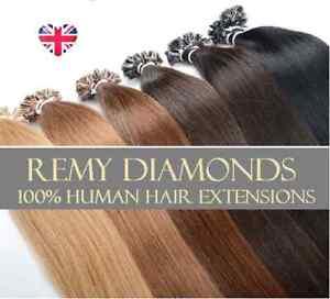 "18"" NAIL U TIP PRE-BONDED 100% Real HUMAN Hair Extensions UK Seller"
