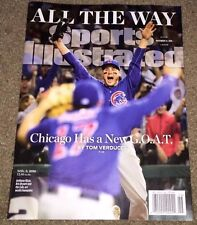2016 CHICAGO CUBS SPORTS ILLUSTRATED NOV 14 2016 RIZZO MADDON BRYANT NO LABEL !!