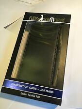 Nokia N9-00 Fitted Leather Flip Wallet Case Black FWALLNOKN9 - FS Brand New Pack