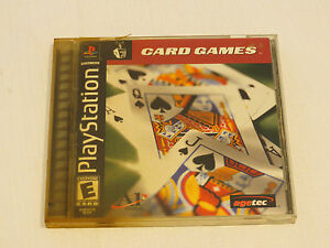 Card Games (Sony PlayStation 1, 2001) PS1 E everyone Agetec ^