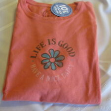 LIFE IS GOOD  T-Shirt Tee NWT Women's Size M Have a Nice Daisy