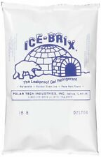 "Polar Tech Ib6 Ice Brix Leakproof Viscous Gel Refrigerant Poly Pack, 4"" Length x"