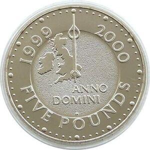 1999 - 2000 £5 ROYAL MINT CROWN MILLENNIUM ANNO DOMINI 5 POUND COIN
