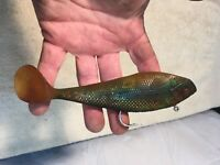 Vintage Hard Rubber Minnow Fishing Lure 6in