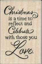 """""""Christmas Love"""" Rubber Stamp by Stampendous"""
