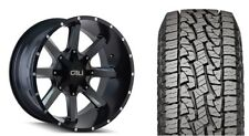 """20"""" Cali Offroad 9100 Busted Black Wheels 33"""" AT Tires Package 5-150 Fits Tundra"""