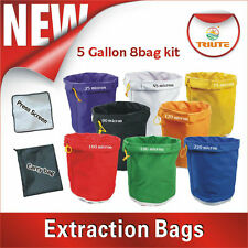 Hydroponic Hash Bubble Ice Bags 5 gallon 8 bag & Carry Bag Mesh Press