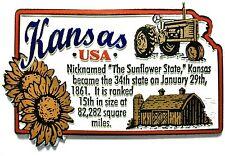 Kansas The Sunflower State Outline Montage Fridge Magnet