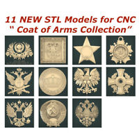 11 NEW Coat of Arms 3d STL Models for CNC Router 3d-Printer Artcam Aspire Cut3d
