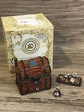Boyds Bears Uncle Bean's Treasure Boxes Indy's Treasure Chest W/ Pirate McNibble
