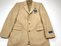 Stafford 42L Microsuede 3-Button Taupe Brown Blazer Sport Coat NEW NWT
