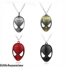 Marvel Spider-Man Mask Men's Necklace pendant Accessory Collection Funny Gift