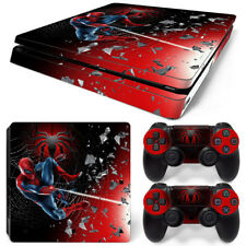 PS4 Slim Playstation 4 Console Skin Decal Sticker Spider-Man SuperHero Design
