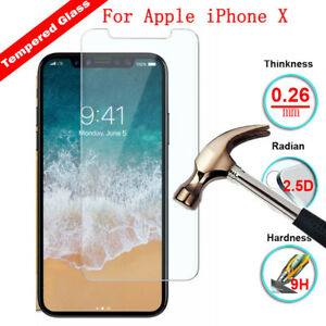 2X Clear Tempered Glass Screen Protector Film For Apple iPhone 8 X XS XR XS MAX