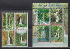 Philippine Stamps 2003 Phil. Waterfalls blk of 4 & souvenir sheet Complete, MNH
