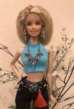 Handmade Jewelry & Accessories for Barbie - Medallion Belt & Earrings