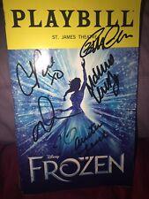 Frozen New Cast Signed Broadway Playbill X6 Ciara Mccartan Elsa Anna Disney Let