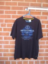 Pre-owned *** NAUTICA - Black *** XL Cotton Faded Nautica T-Shirt