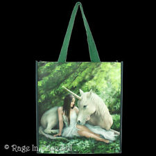 *PURE HEART* Unicorn Art Polypropylene Shopping Tote Bag By Anne Stokes 39x35cm