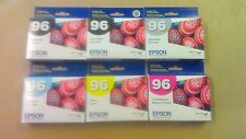 Epson Stylus Photo R2880 Ink Cartridges 96 ~Lot of 6~ New OEM! Read Details