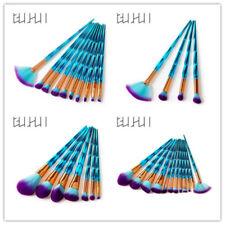 12Stk Einhorn Meerjungfrau Makeup Pinsel Kosmetisches Werkzeug für Gesicht