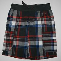 New Gymboree Boys Everyday All Star Gray White Red Plaid Shorts 18-24M 2T 3T NWT