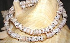 6.5mm-8mm Small Natural Tiger Cone Shells Hawaiian Puka Shell Necklace 18""