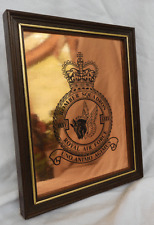Royal Air Force - Bomber Squadron -- Framed Engraved Copper Plaque