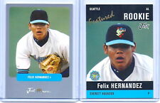 """FELIX HERNANDEZ 2003/04 JUST MINORS """"2"""" CARD ROOKIE LOT! MARINERS 2010 CY YOUNG!"""