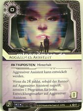 Android Netrunner LCG  - 1x Aggressiver Assistent  #057 - Base Set deutsch