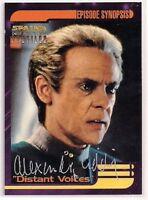 Star Trek Signed Card Auto DS9 Profiles Julian Bashir Alexander Siddig v94