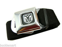 Official DODGE LOGO Seatbelt Seat Belt & BUCKLE Charger push  Buckle Down