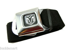 Official DODGE LOGO Seatbelt Seat Belt & BUCKLE Charger push  BuckleDown