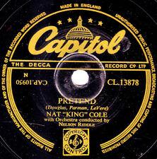 "CLASSIC 1953 UK No.2 NAT KING COLE 78  ""PRETEND"" b/w ""FUNNY"" CAPITOL CL 13878 EX"