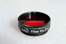"""Ostara 1.25"""" #23a Red filter for telescope eyepiece. For planets and Moon"""