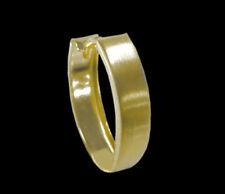 ECHT GOLD *** Schlichte Herren Single-Creole Ohrring 11 x 13 mm, matt, oval