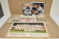 Vtg Detroit Tigers Ephemera Lot Magazine Newspaper Gibson Cash  HOF Sparky
