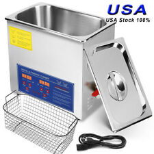 New Stainless Steel 10L Liter Industry Heated Ultrasonic Cleaner Heater w/Timer