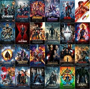 Marvel MCU Avengers Movie Poster Collection (Set of 24) NEW - 11x17 13x19 17x25
