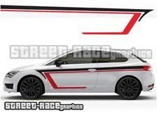 Seat Leon 022 side racing stripes graphics stickers decals vinyl FR SPORT CUPRA