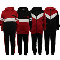 UNVC Boys Tracksuit Kids Cycling Gym Running Jogging Zip Top Bottom Outfit Set Sports